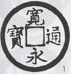 新寛永銭 島屋文 母銭 稀 通用銭300,000円~250,000円